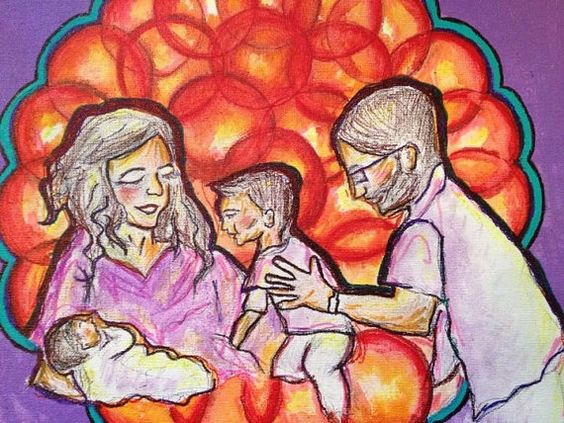 Mother's Day Custom Family Portrait/ Painting by ChunkedUpFunk