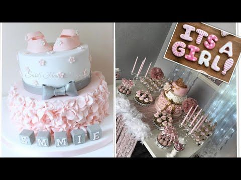 تزين حفلات مواليد بنات كيك وكبكيك Unique Shower Ideas Baby Gender Reveal Youtube Cake Desserts Birthday