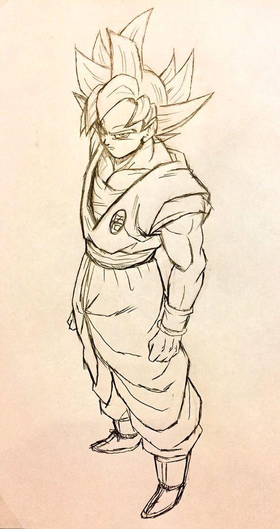 Como Desenhar Goku Instinto Superior Dragon Ball Super