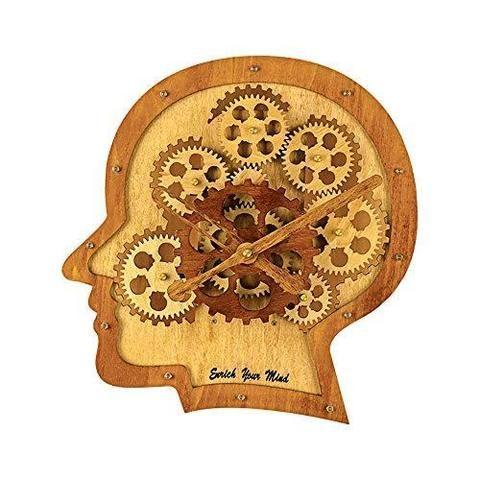 Creative 3d Brain Wooden Wall Clocks Novarian Creations In 2020 Gear Wall Clock Roman Numeral Wall Clock Wall Clock
