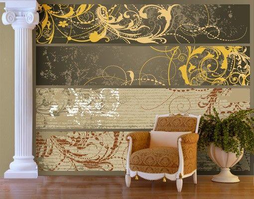 selbstklebende tapete fototapete grunge banner. Black Bedroom Furniture Sets. Home Design Ideas