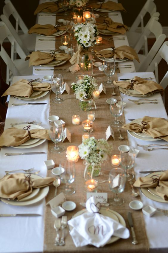 Bridal luncheon burlap and lace on pinterest
