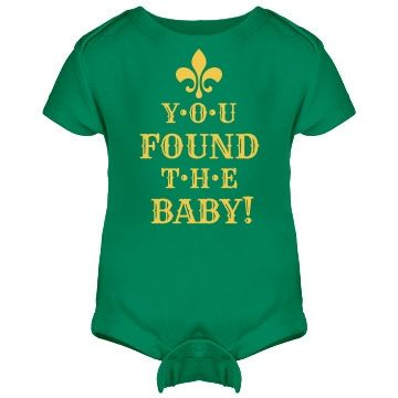Found The Baby Mardi Gras Onesie - Congrats! You found the Mardi Gras baby! Customize this for your little party baby.