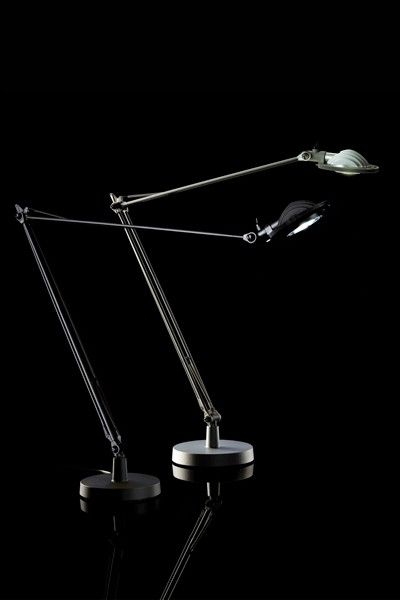 Luceplan Berenice Tavolo LED schwarz und Aluminium