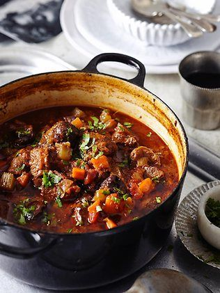 LAMB is perfect for stews and casseroles; I generally use diced boned shoulder. These dishes are even better reheated the next day.