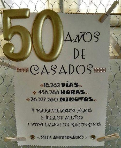 Tarjeta Recuerdos 50 Años De Casados En 2020 Bodas De Oro