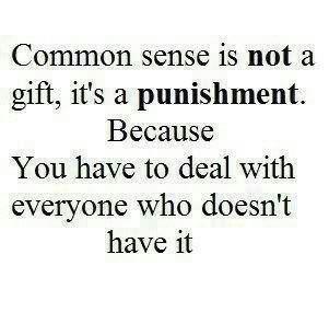 Common sense is not always common