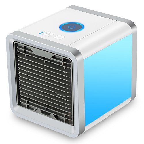 Fitfirst Personal Space Air Cooler 3 In 1 Usb Mini Portable Air Conditioner Humidifier Purifier And 7 Color Air Cooler Air Conditioner Space Air Conditioner
