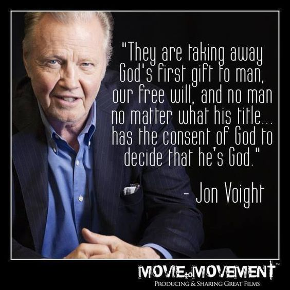 TRUTH!! Wow!!! I agree with Jon Voight!!! Didn't think I could ever say that!!!! This is soooo true!!!!