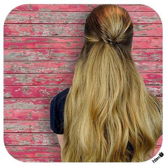 #halfuphalfdown #style easy to do and easy to wear anywhere! #toptip is to #tease the hair at the crown and pin into place after you've tightly secured the sides with an #elastic. #voila #beautiful #simple #hair. Hides any second day #grease too! #winning  #hair #hairbymel #loosecurls #AKL #NZ #hairdesign #hairstyles #easyhairstyles #longhair #ombre #balayagehair