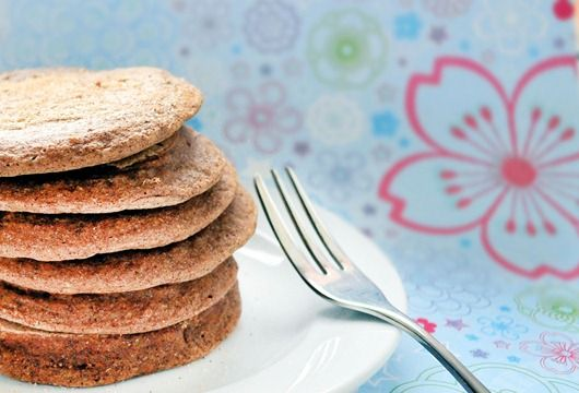 """Healthy """"Snickerdoodle"""" pancakes....made these tonight for dinner! Pretty good, really thin. -kristen."""