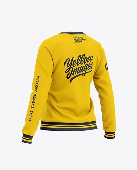 Download Women S Crew Neck Sweatshirt Back Half Side View In Apparel Mockups On Yellow Images Object Mockups Crewneck Sweatshirt Women Clothing Mockup Hoodie Mockup