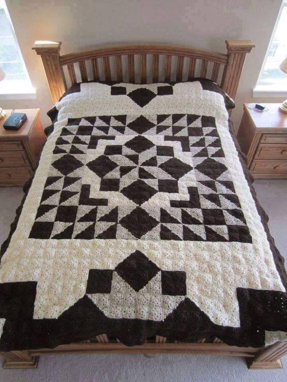 Crochet Quilt : Casablanca Crochet Quilt - Free Pattern