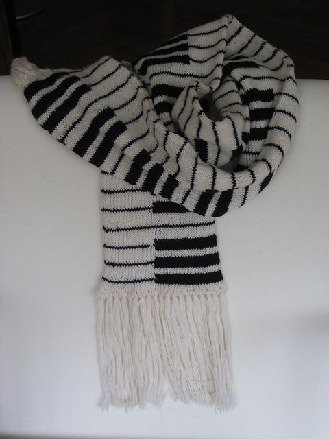 Ravelry: Project Gallery for Mikkel's Piano Scarf pattern by Anne Abrahamsen
