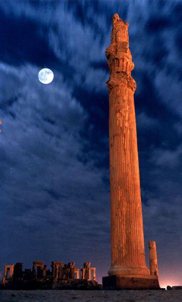 Persepolis at night. Venus Transit, observing in Pasargad, Fars