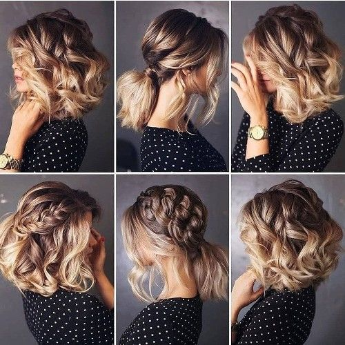 Cute Hair Buns And Bridal Braids Styling Ideas Just Trendy Girls In 2020 Braids For Short Hair Medium Hair Styles Short Hair Styles