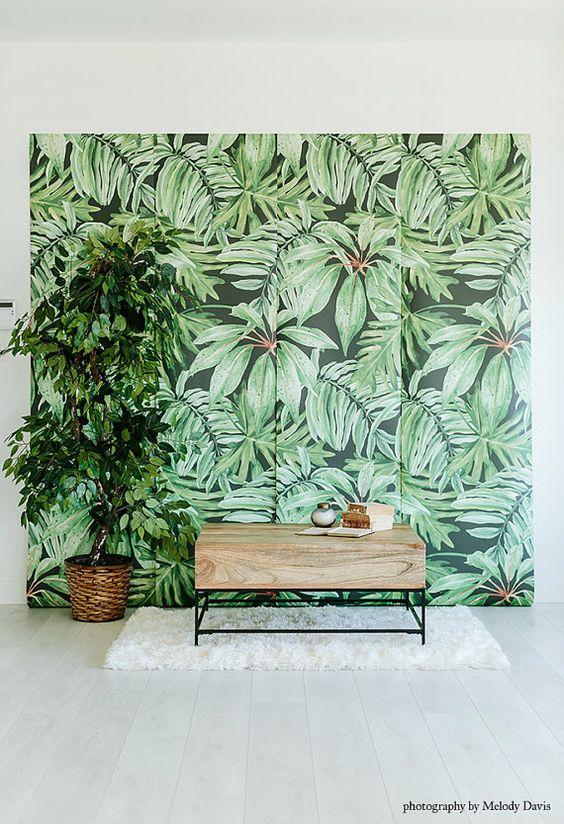 bananenblatt gro es wandbild wandbild aquarell. Black Bedroom Furniture Sets. Home Design Ideas