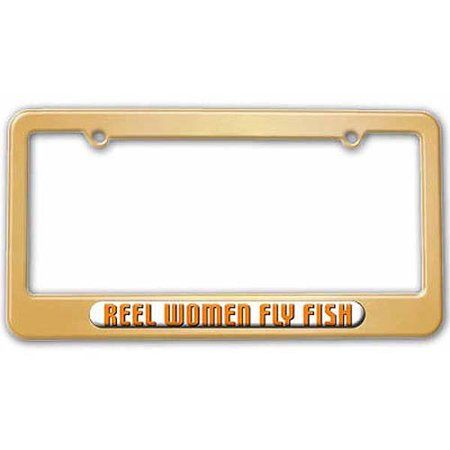 Auto Tires Cool License Plates Fly Fishing Frame