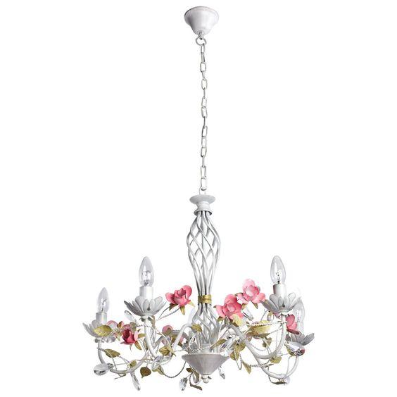 Kronleuchter Florentiner Kristall klar klassisch Chic-Stil Metall Ø60cm 5-flammig  MW-LIGHT Florentiner