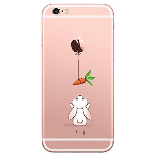 Vanki Coque iPhone 6/6S Fleur Désign TPU Souple Etui de Protection ...