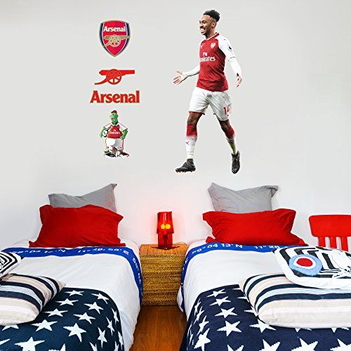 Beautiful Game Arsenal Wall Mural Pierre Emerick Aubameya Https Www Amazon Co Uk Dp B07dyfz7wh Ref Cm Sw R P Football Bedroom Wall Murals Sticker Wall Art