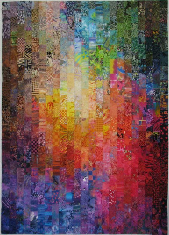 Exuberant Color: Colorwash quilts- 2.5 x 4.5 batik scraps