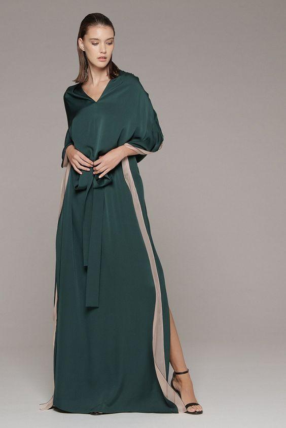 Abito Lungo Vionnet. #vpstyle #vionnet #onlineshopping #fashion #style #autumn #autunno #autumnstyle #autumnfashion #verde #abiti