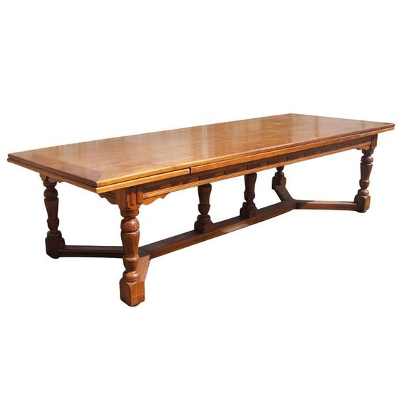 10 14 Ft Antique French Country Walnut Extension Dining Conference Table 1stdibs Com Vintage Dining Room Table Vintage Dining Room Dining Room Table