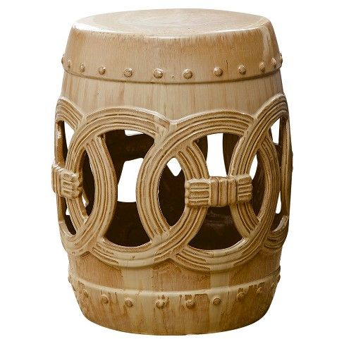 Swell Moroccan Beige Ceramic Garden Stool Abbyson Living Bralicious Painted Fabric Chair Ideas Braliciousco