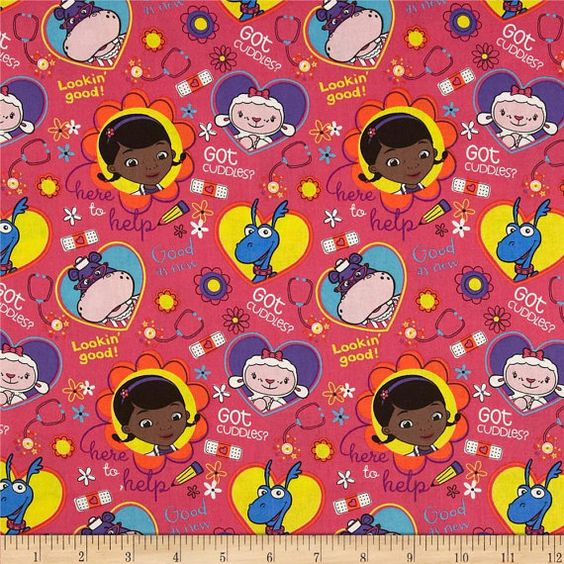 Disney Doc McStuffins Fabric sold per Fat by tambocollection