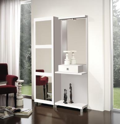 Muebles salvany recibidores y recibidores zapatero es605 for Zapatero pequeno blanco