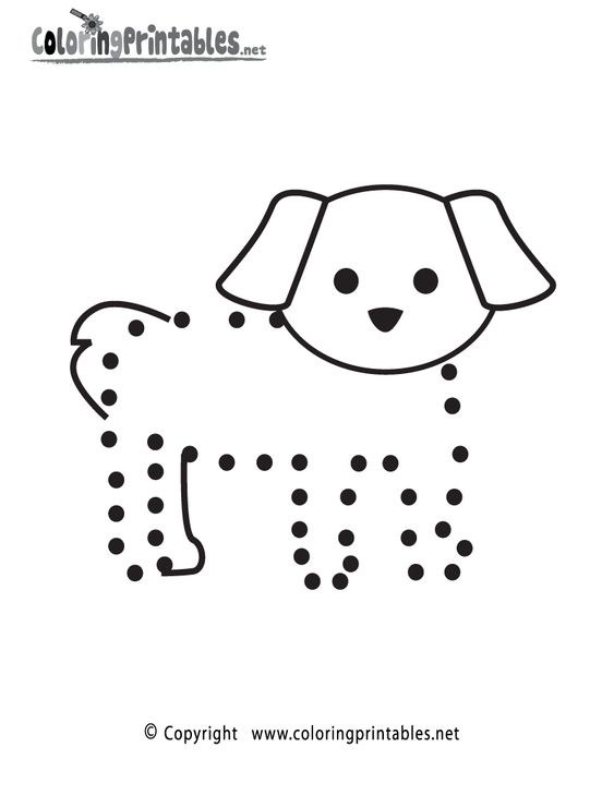 Dog Connect the Dots Activity Printable
