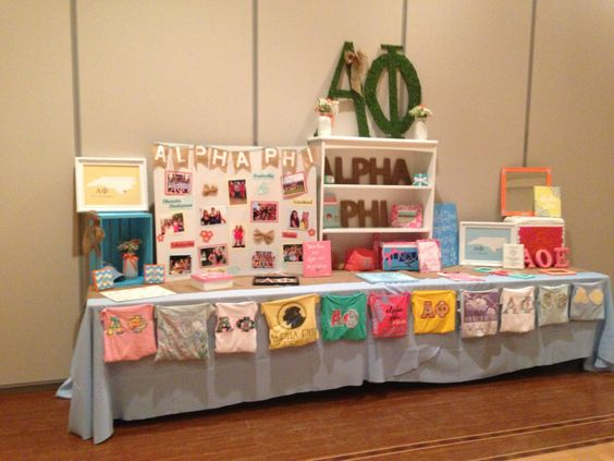 UNCW Alpha Phi brag table