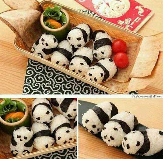 panda rice ball. panda