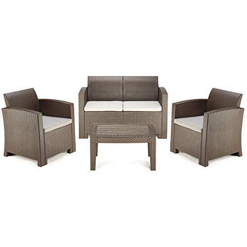 pamapic 4 piece outdoor patio furniture