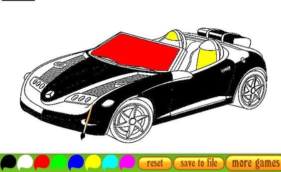 العاب تلوين سيارات Sports Car Car Toy Car