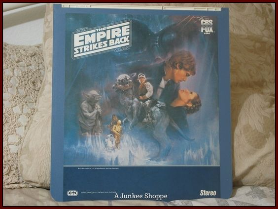 STAR WARS CED Capacitance Electronic Video Disc The Empire Strikes Back 1984   Junk 710  http://ajunkeeshoppe.blogspot.com/
