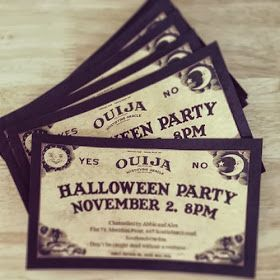 Spooky Halloween invitations you can print off at home! Just add the details of your party!