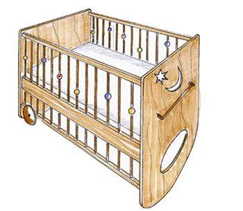Schaukel Kinderbett - gratis Baupläne und Anleitung