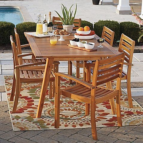Westerly Acacia Wood 6 Person Saddle Table Durable Table Luxury Dining Tables Indoor Dining