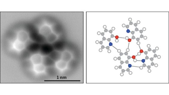 The Very First Image of a Hydrogen Bond - yea, they can take pictures of that now... WTF!
