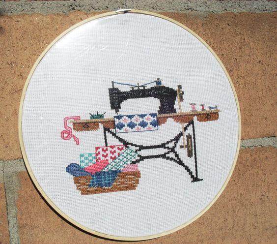 cuadro punto de cruz por MADAHY en Etsy, $500.00