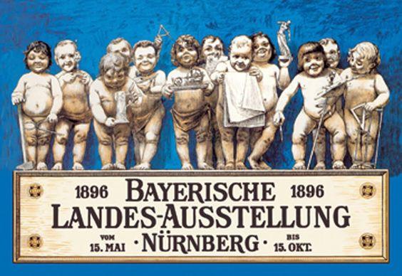 1896 - Bayerische Landesausstellung - Nürnberg, by Richard Riemerschmid