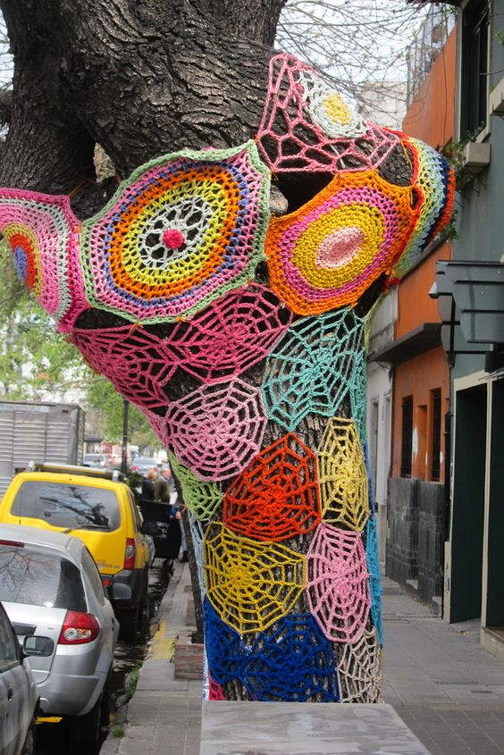 Yarn Graffiti | The Art of Yarn Bombing & Crochet Graffiti: