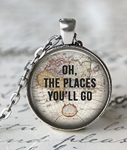Oh, the places you'll go - necklace