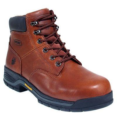 Wolverine Boots Men's Brown 4904 Harrison Steel Toe Non-Slip Work ...