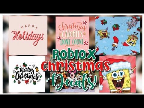 Roblox Bloxburg Royale High Christmas Decals With Id Codes Youtube Christmas Decals Holiday Decals Decal Design