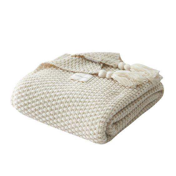 Tassel Knitted Ball Blanket Woolen Blanket Office Air Conditioner Leisure Blanket   Features:  100% Brand new and high quality. Quantity:1PC Material: acrylic fiber Features: Made of durable materials, comfortable, lightweight. It will create a warm and holiday mood wherever they are placed. Modern fashion style design, easy to match your sofa and other pillows. Suitable for every season Perfect for sofa, chair, bed, decoration and everyday use Occasion: Living room, Study room, Commercial, Home