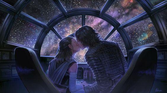 Kylo Ren Ben Solo And Rey Reylo Starwars Fanart Kiss Rey Star Wars Ray Star Wars Star Wars Love