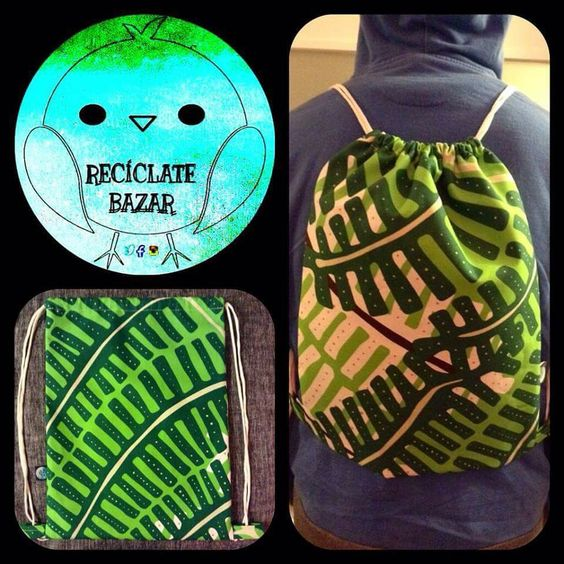 bolso confeccionado en #lona disponible en www.facebook.com/reciclatebazar